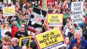 Anti-TPP protests in New Zealand